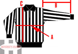 Referee Jersey Measurements