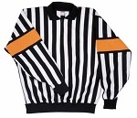 Old Style CCM Pro Referee Jersey w/ Sewn-On Orange Armbands