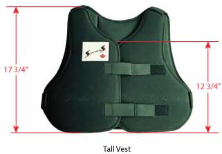 Stevens Vest Sizing - Tall
