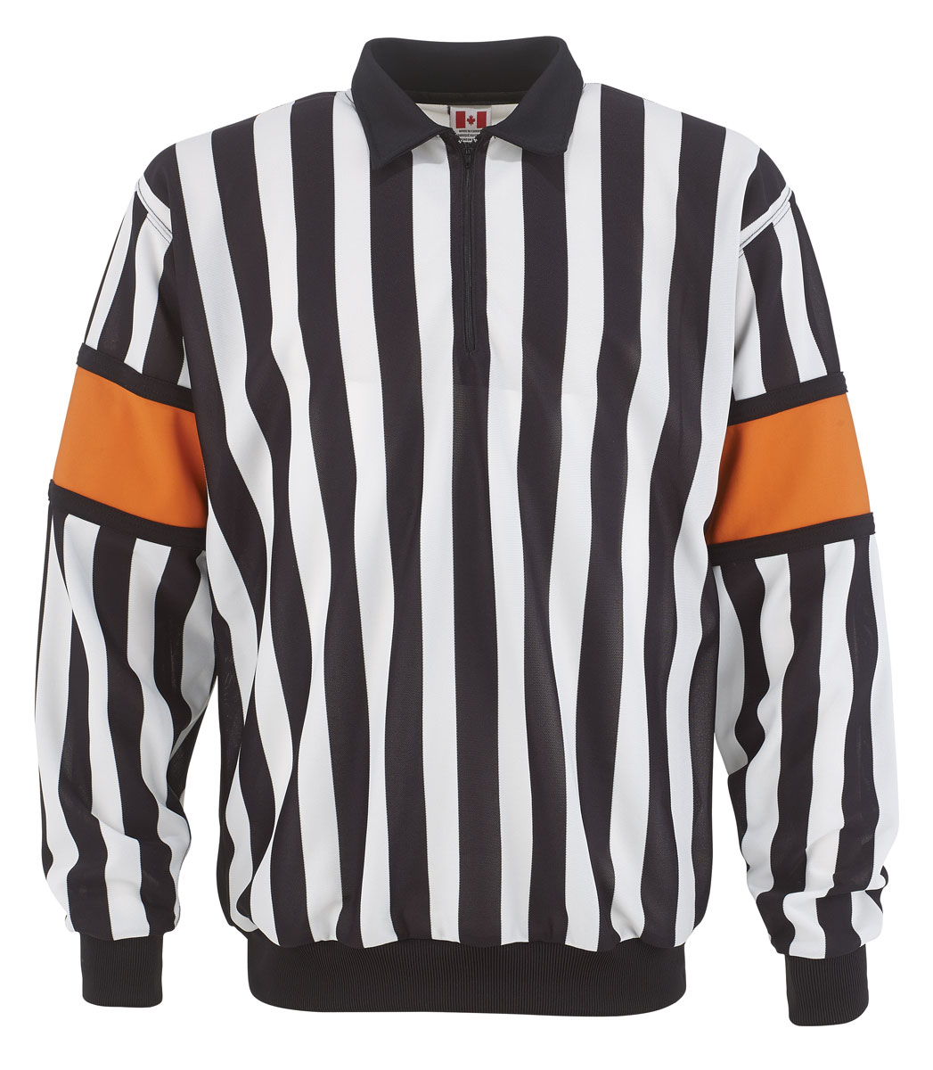 763dd947851 Add to My Lists. CCM Pro Referee Jersey w/ Sewn-On Orange Armbands